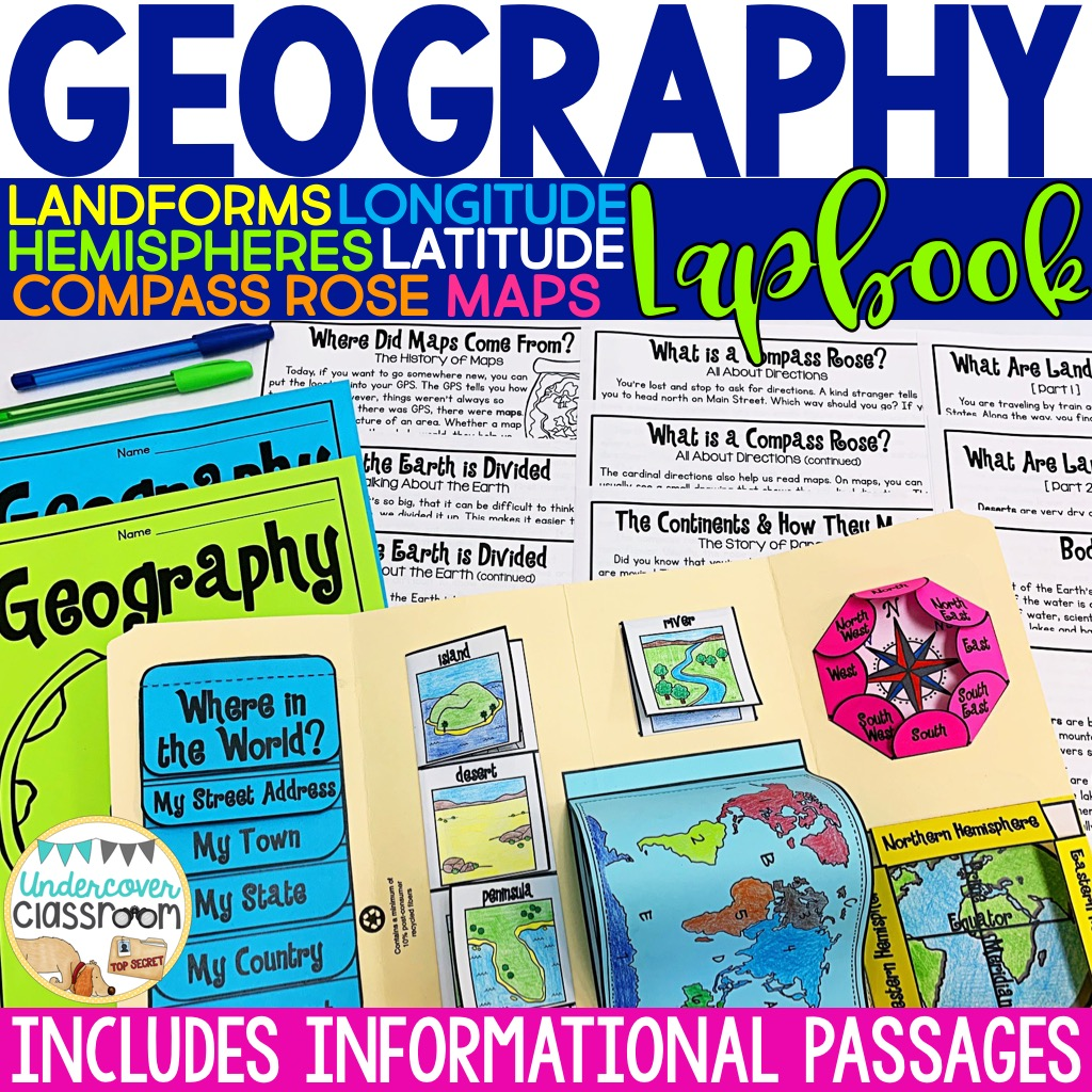Consolidate your geography unit with this lapbook and informational passages.