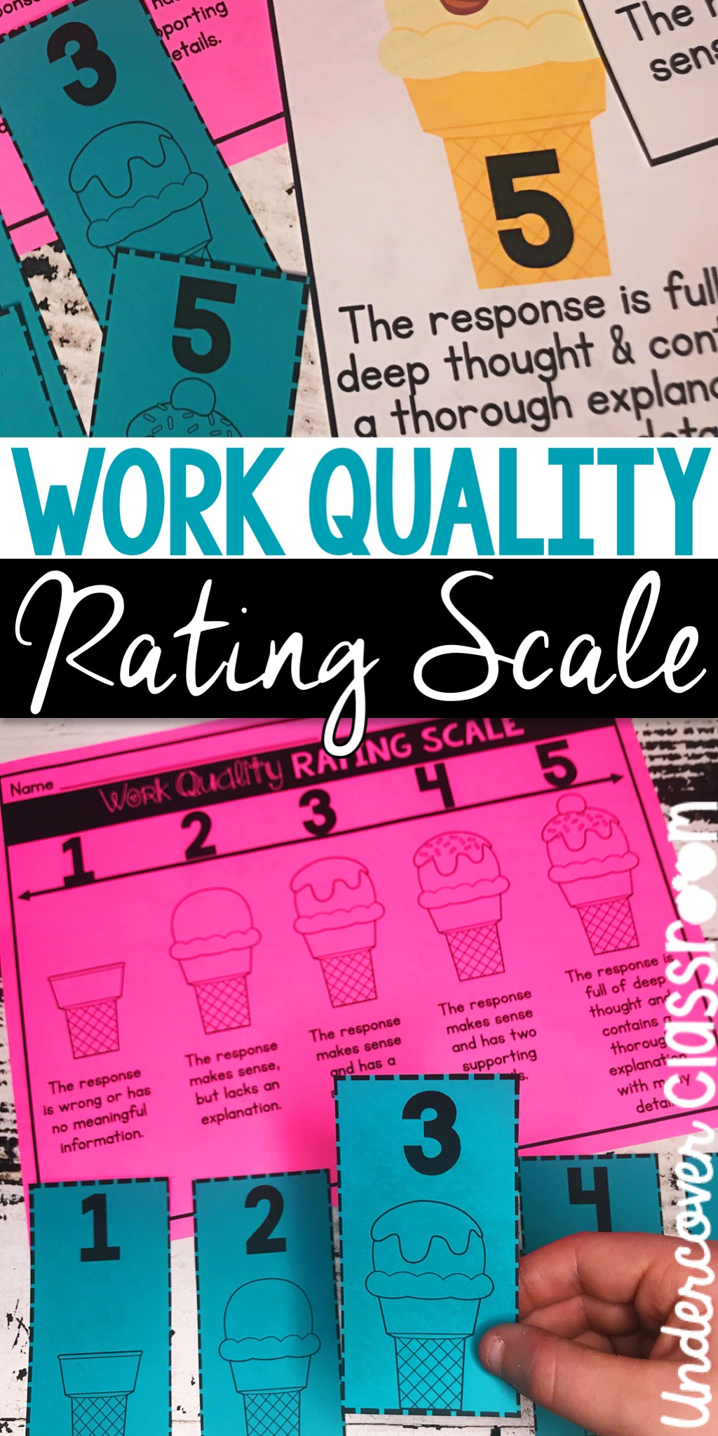 Use this FREE rating scale resource to improve student work quality in written responses. Help students evaluate and improve the quality of their answers.