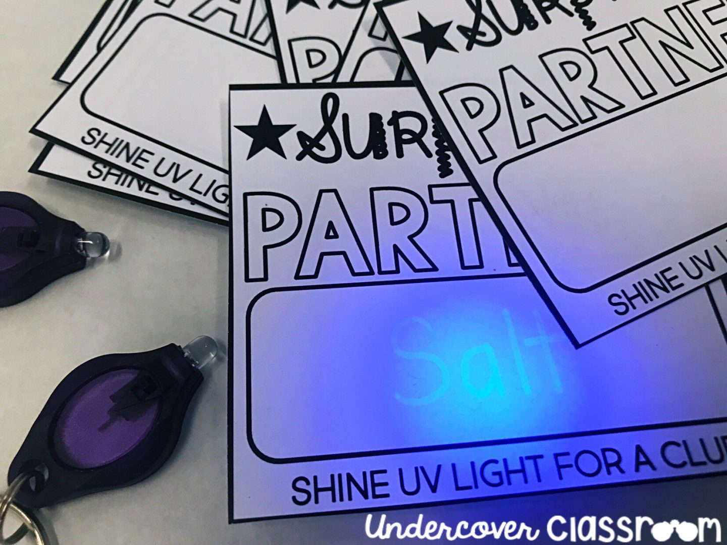 Partner your students using invisible ink