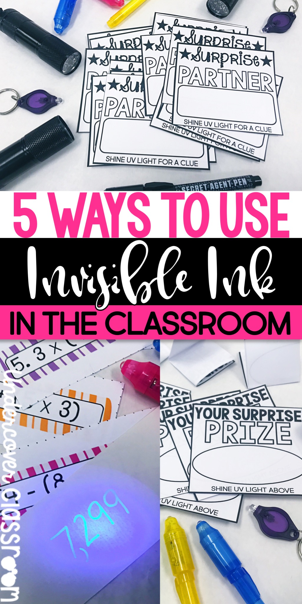 Surprise your students with invisible ink! Here's 5 ways to motivate your students using invisible ink and UV flashlights in the classroom.